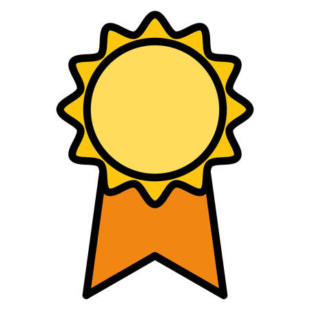medal stamp award icon vector illustration design