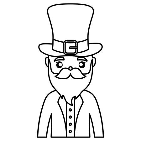 leprechaun saint patrick head character vector illustration design