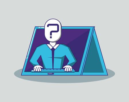 man with fintech concept vector illustration design Illustration