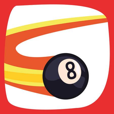 billiard flying balls sport vector illustration design Фото со стока - 130156306