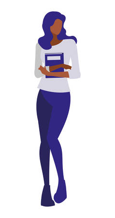 young black girl student modeling vector illustration design 向量圖像