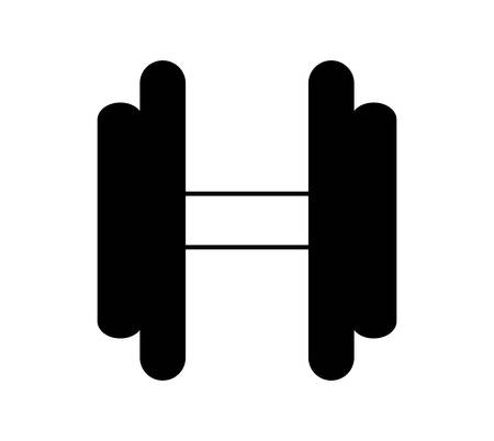 dumbbell weight lifting equipment vector illustration design