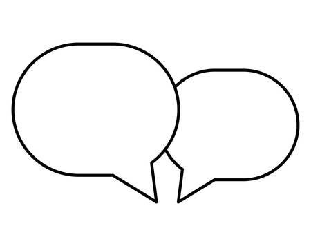 speech bubbles message icon vector illustration design