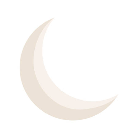 crescent moon isolated icon vector illustration design