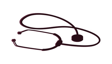 medical stethoscope isolated icon vector illustration design
