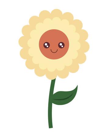 cute sunflower character vector illustration design Illustration