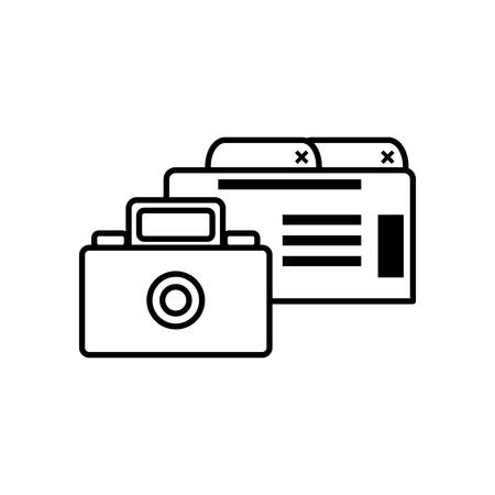 webpage template with camera photographic vector illustration design Иллюстрация