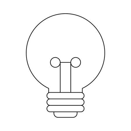 light bulb isolated icon vector illustration design Иллюстрация
