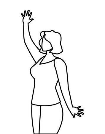 elegant businesswoman avatar character vector illustration design 向量圖像