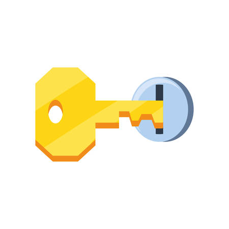 key with hole security isolated icon vector illustration design 스톡 콘텐츠 - 130157776