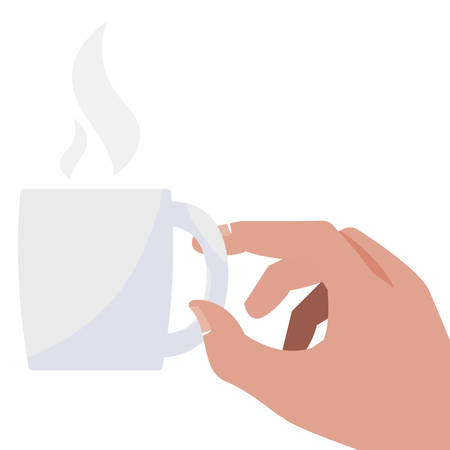 hand with coffee cup vector illustration design Иллюстрация