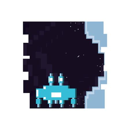 video game pixelate scene vector illustration design Illusztráció