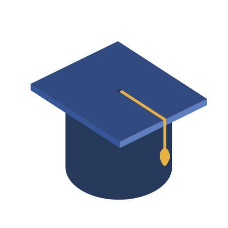 hat graduation isolated icon vector illustration design Foto de archivo - 130157986