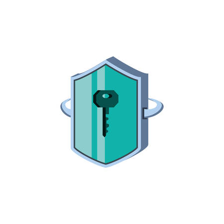 shield secure isolated icon vector illustration design