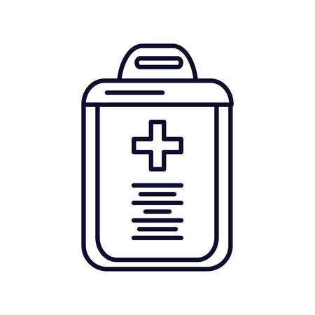clipboard checklist with document hospital vector illustration design