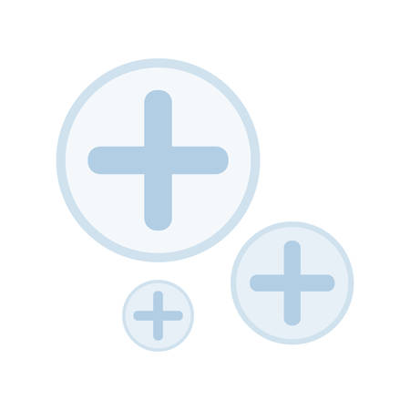 medical cross set icons vector illustration design Ilustracja