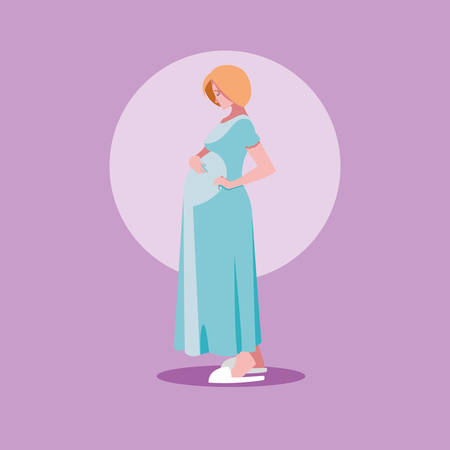 pregnant woman avatar character vector illustration design