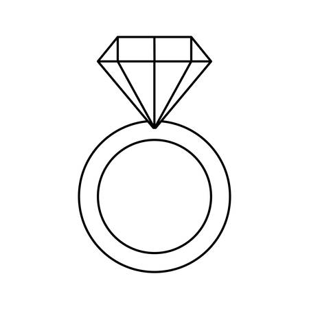 engagement ring with diamond vector illustration design