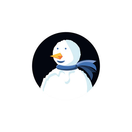 snowman of christmas character vector illustration design