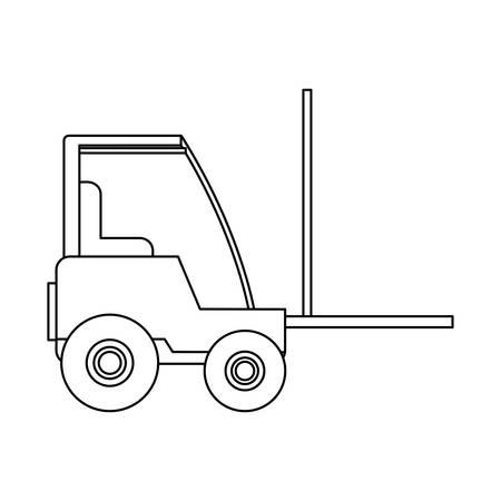 under construction forklift vehicle vector illustration design