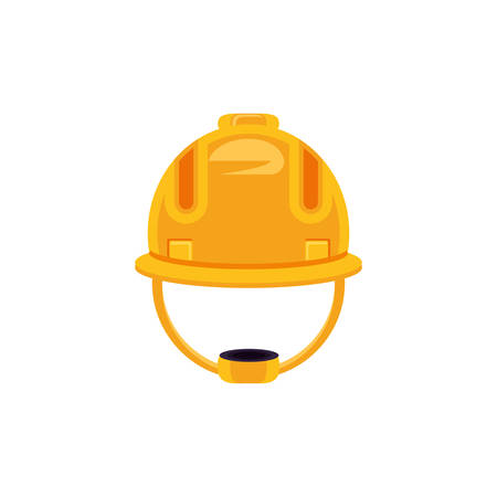helmet construction protection isolated icon vector illustration design