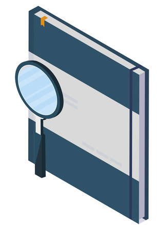 search magnifying glass with notepad vector illustration design