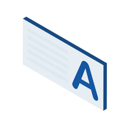 tag with letter a icon vector illustration design