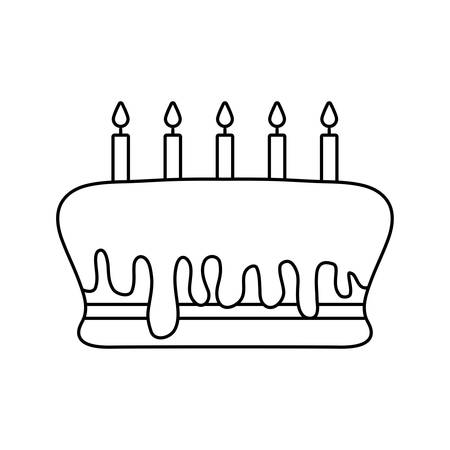 sweet cake of birthday isolated icon vector illustration design Ilustração
