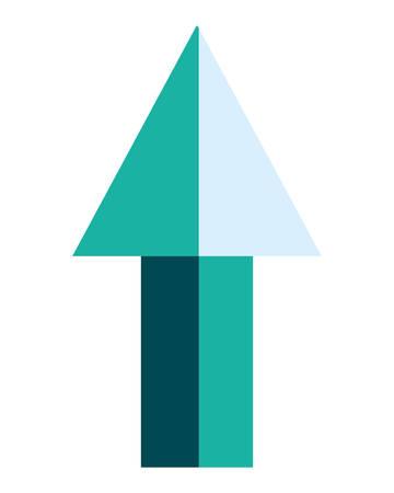 green arrow profit on white background vector illustration