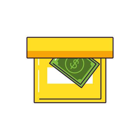 bill dollar in box office vector illustration design Ilustração