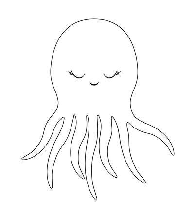 cute octopuses animal isolated icon vector illustration design Ilustracja
