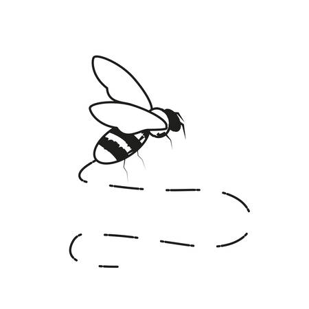 bee insect isolated icon vector illustration design