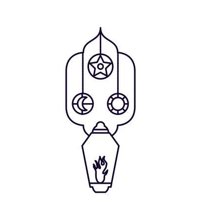 Ramadan Kareem lamps hanging vector illustration design Ilustração