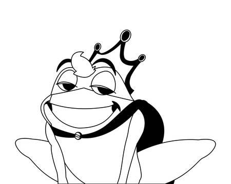 toad prince fairytale character vector illustration design Ilustração