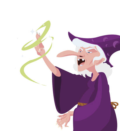 witch of tales character vector illustration design