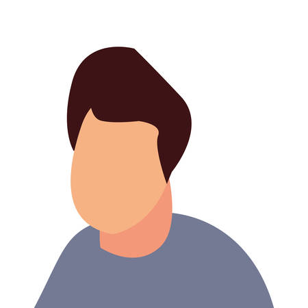man avatar character on white background vector illustration