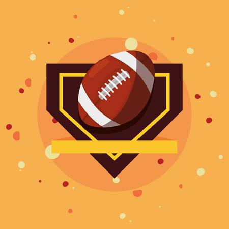 ball sport emblem banner vector illustration design Illustration