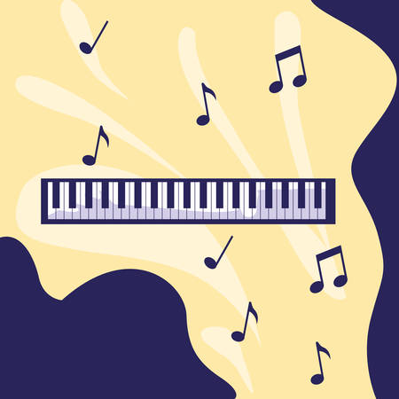 piano keyboard isolated icon vector illustration design Stockfoto - 130360568