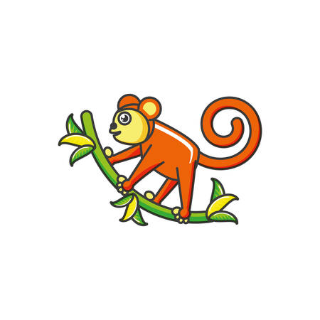 monkey animal isolated icon vector illustration design Illustration