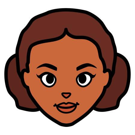 beautiful woman head character vector illustration design Иллюстрация