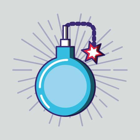 bomb explosive isolated icon vector illustration design Иллюстрация