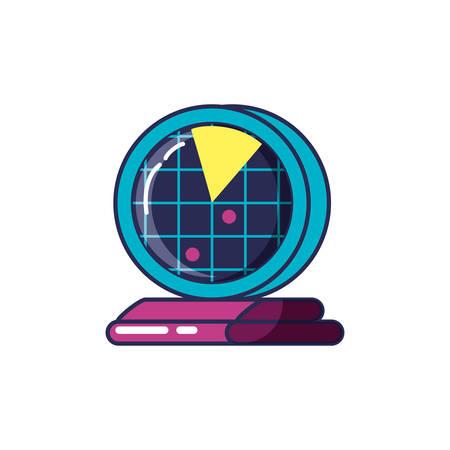 radar location isolated icon vector illustration design  イラスト・ベクター素材