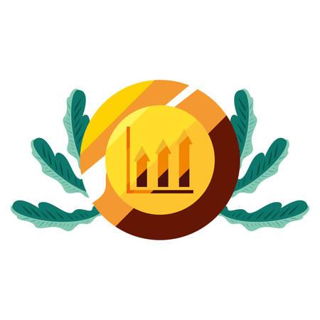 gold coin chart financial money vector illustration
