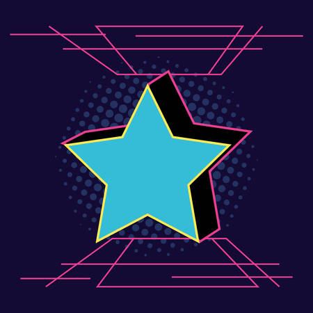 star retro style icon vector illustration design