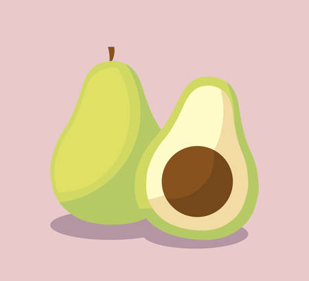 fresh avocados healthy isolated icon vector illustration design