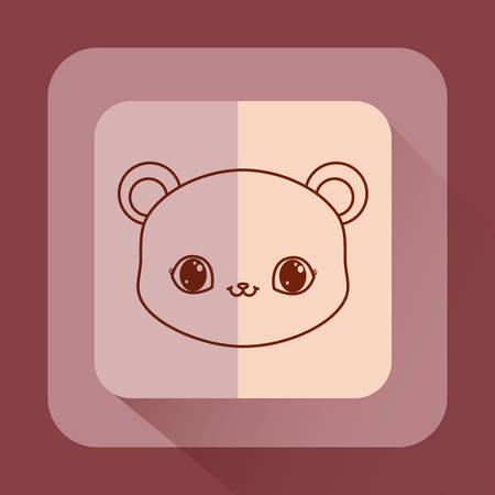 cute baby kawaii animals card vector illustration