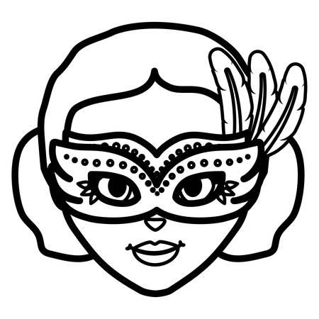 beautiful brazilian garota head character vector illustration design Иллюстрация