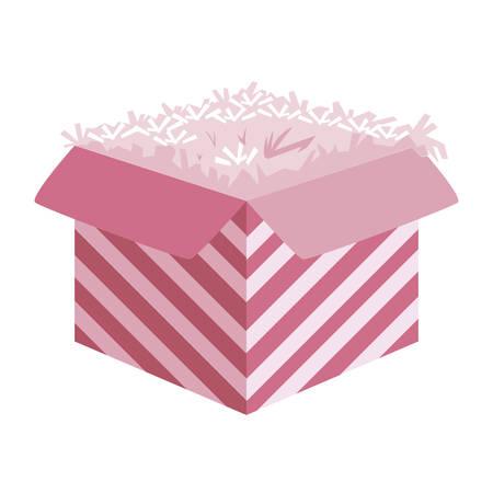 sweet cake birthday packing box vector illustration design