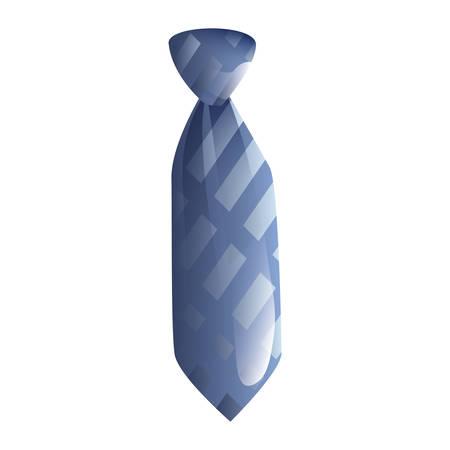men accessory fashion necktie on white background vector illustration Illustration