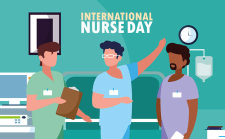 international nurse day with group of professionals vector illustration design Фото со стока - 130710787